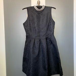 Black Dress, Medium, Embelished Collar, NWT